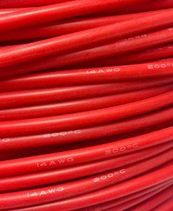 Cable de silicona 10-12-14-16 AWG rojo 1 metro