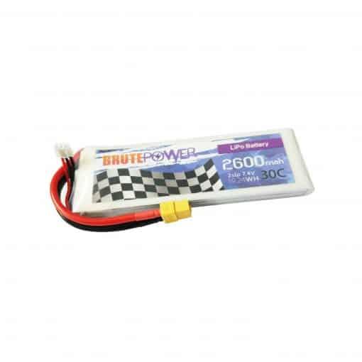 batería lipo 2s 2600mah 30c