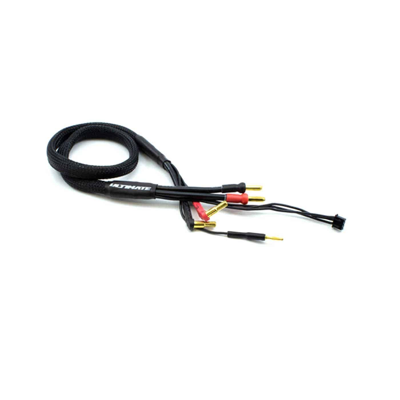 cable de carga baterías 2s bananas 4y5mm