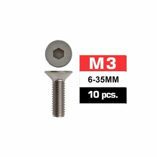 tornillo avellanado M3