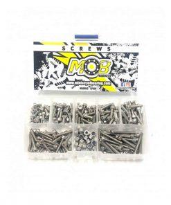 Caja set 200 tornillos M3 acero inoxidable cabeza cilíndrica