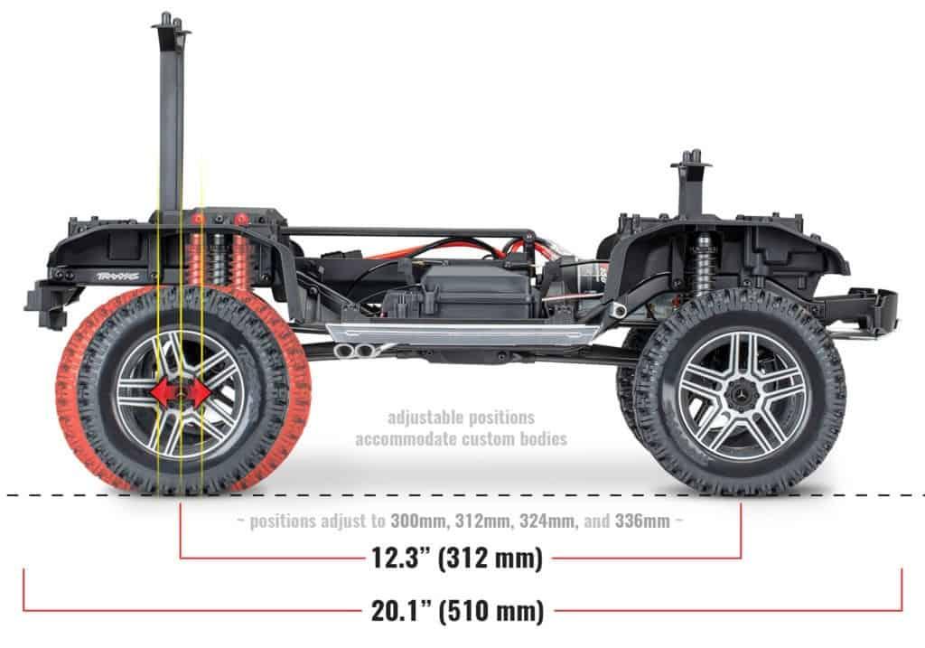 Traxxas Mercedes G500 batalla ajustable