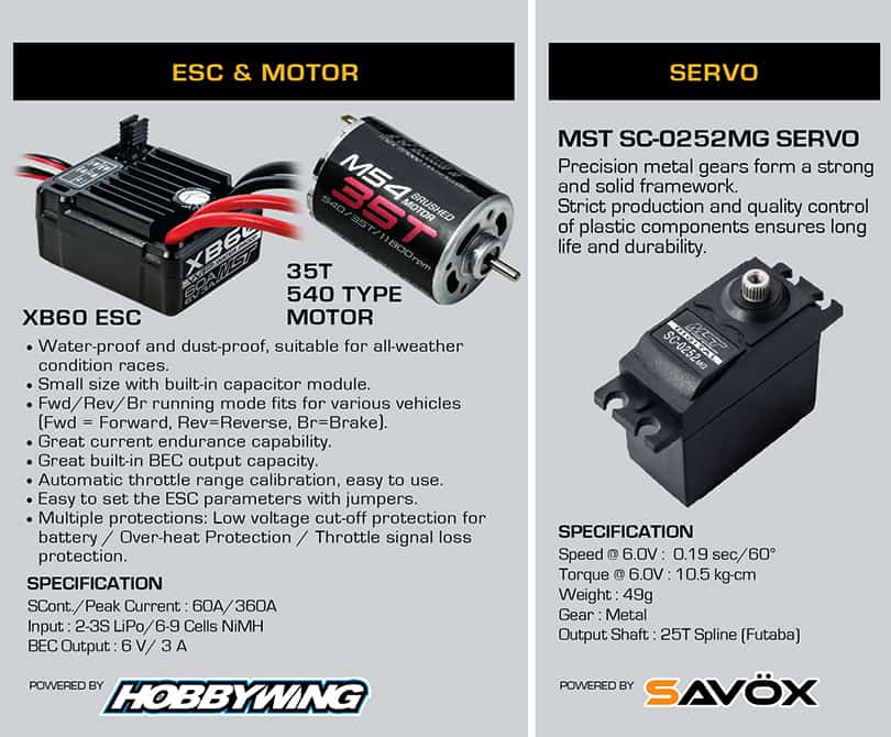 Electrónica MST J45C RTR