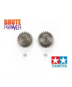 Set de dos piñones Tamiya 24T y 25T para TT-01