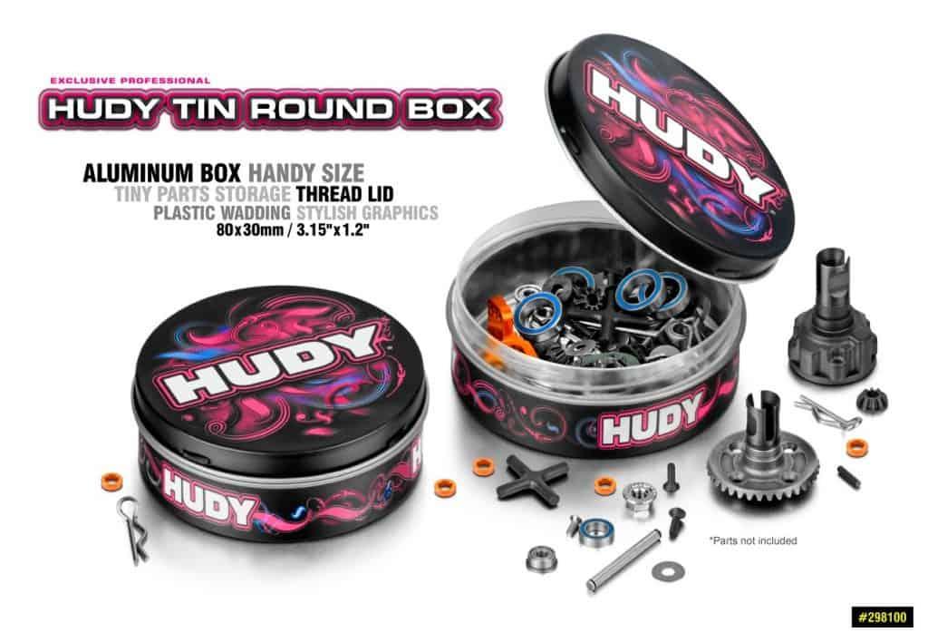 caja redonda de hojalata HUDY
