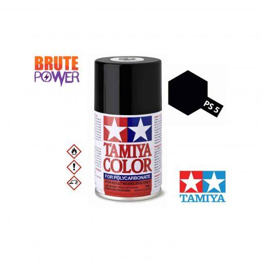 Pintura Spray Tamiya PS-5 negro