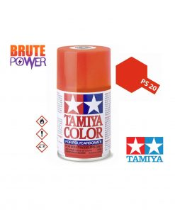 Pintura Spray Tamiya PS-20 rojo fluorescente