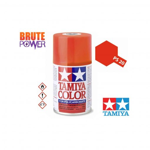 Pintura Spray Tamiya PS-20 rojo fluorescente
