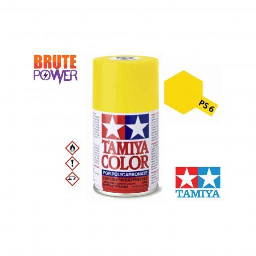Pintura Spray Tamiya PS-6 amarillo