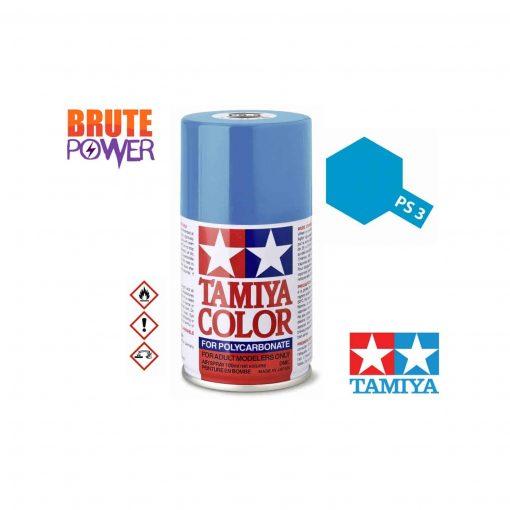 Pintura Spray Tamiya PS-3 azul claro