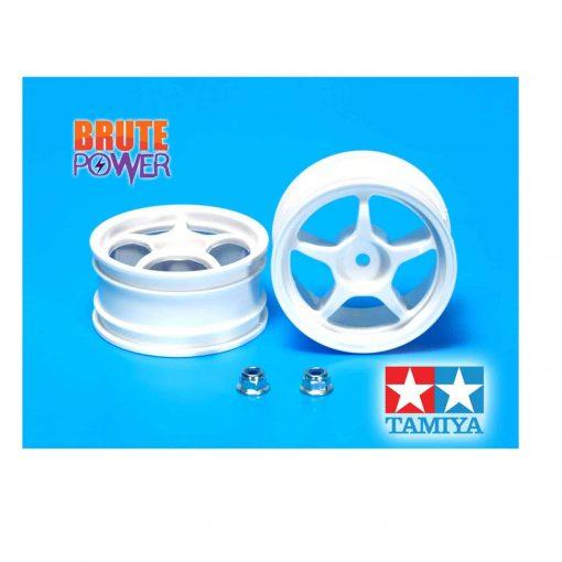 llantas de 5 radios blancas Tamiya 26mm
