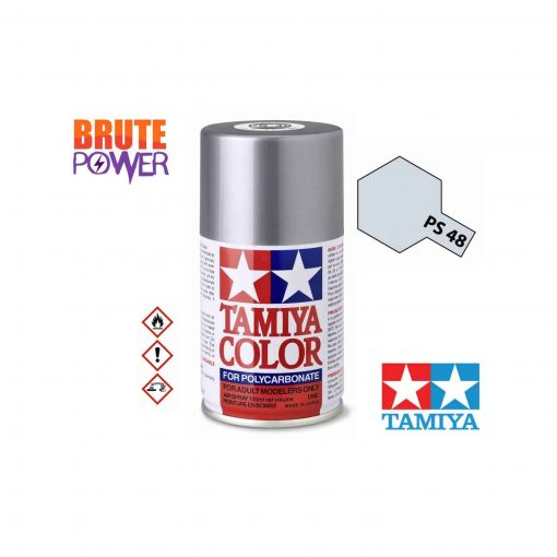Pintura Spray Tamiya PS-48 gris cromado