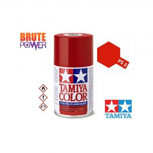 Pintura Spray Tamiya PS-2 rojo