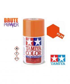 Pintura Spray Tamiya PS-24 naranja fluor