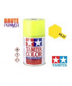 Pintura Spray Tamiya PS-27 amarillo fluor