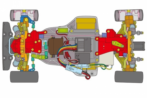 Tamiya TA02 Opel Calibra V6 4WD
