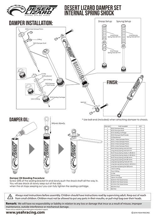 manual montaje desert lizard