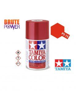 Pintura Spray Tamiya PS-15 rojo metalizado