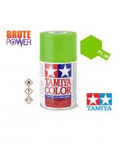 Pintura Spray Tamiya PS-28 verde fluor