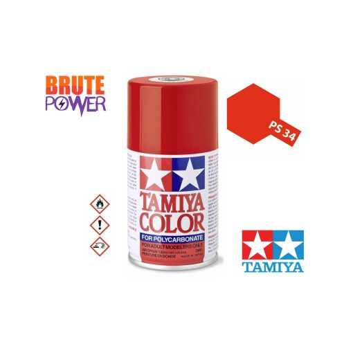 Pintura Spray Tamiya PS-34 rojo brillante
