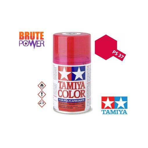 Pintura Spray Tamiya PS-37 rojo traslucido