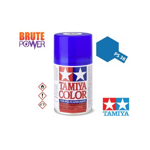 Pintura Spray Tamiya PS-38 azul traslucido