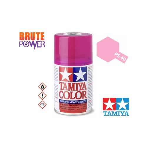 Pintura Spray Tamiya PS-40 rosa traslucido