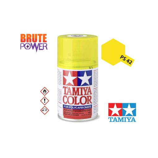 Pintura Spray Tamiya PS-42 amarillo traslucido